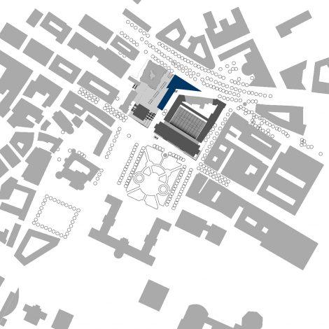 Büro- und Geschäftshaus SCALA Stuttgart Lageplan