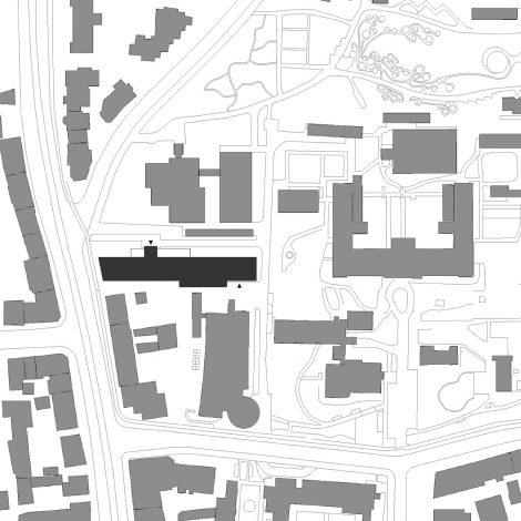 ZBSA Universität Freiburg Lageplan