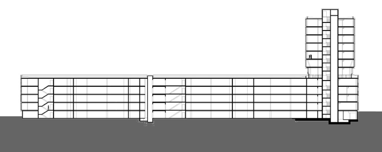 Erweiterung Landratsamt Heilbronn Längsschnitt