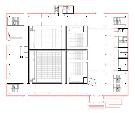 Sanierung Hörsaal Universität Marburg Ebene 0