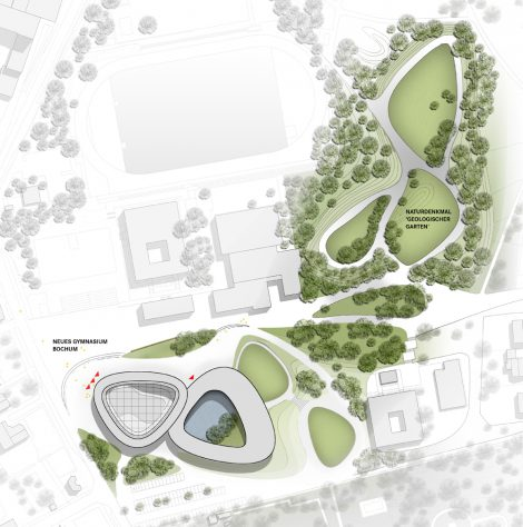 Neues Gymnasium Bochum Lageplan