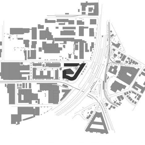 BOSCH Zentrum am Feuerbach Stuttgart Lageplan