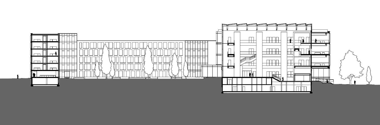 Justizzentrum Bochum Schnitt