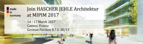 Join HASCHER JEHLE Architektur at MIPIM 2017