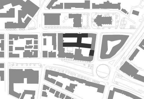 Bürogebäude wgv 1. BA Stuttgart Lageplan